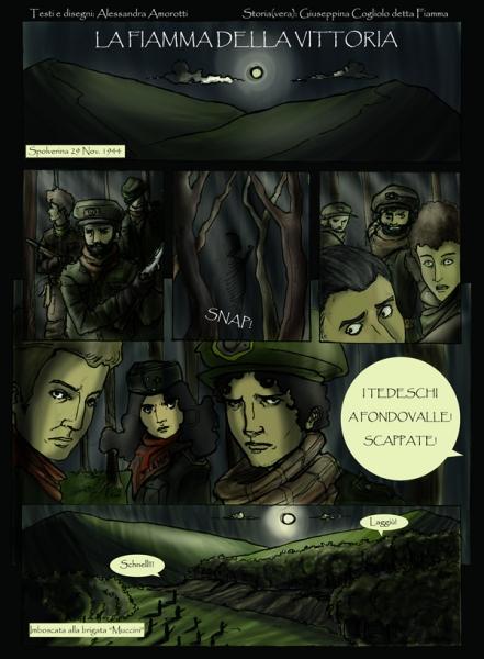 Fumetto La Fiamma della vittoria - Tavola 1