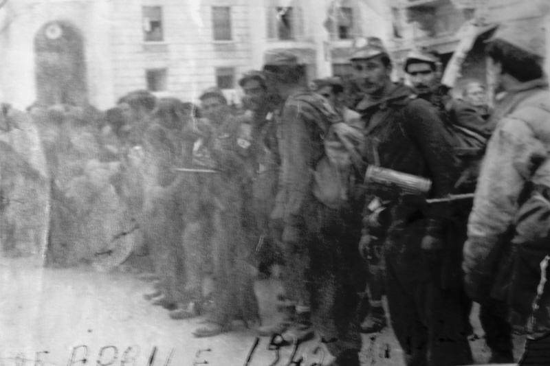 Partigiani della Cento Croci alla Spezia alla Liberazione