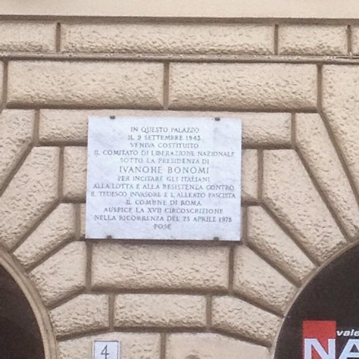 Targa commemorativa del C.L.N. a Roma
