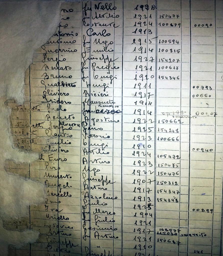 Immagine 1 - Pagina del Registro con deterioramento sul margine sinistro
