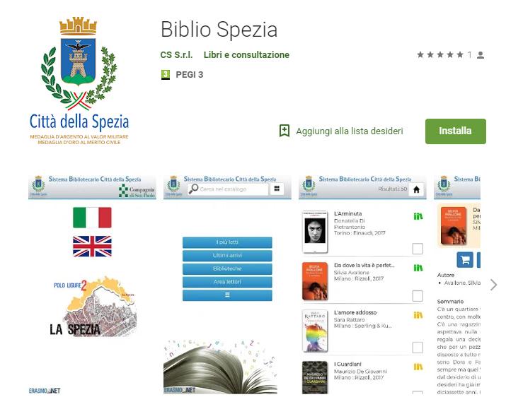 app Biblio Spezia