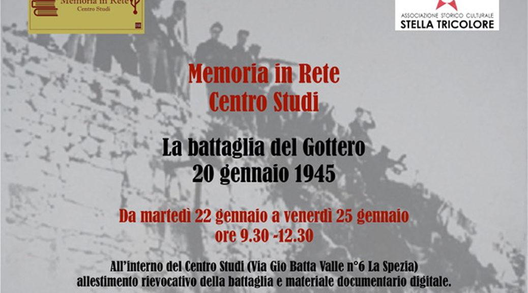Locandina Battaglia del monte Gottero 20 gennaio 1945