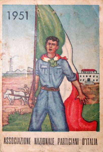 Tessera del 1951 dell'ANPI