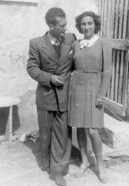 Angelo Galligani con la fidanzata